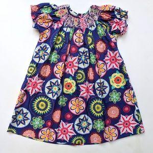 Marmellata Smocked Floral Dress Easter  4